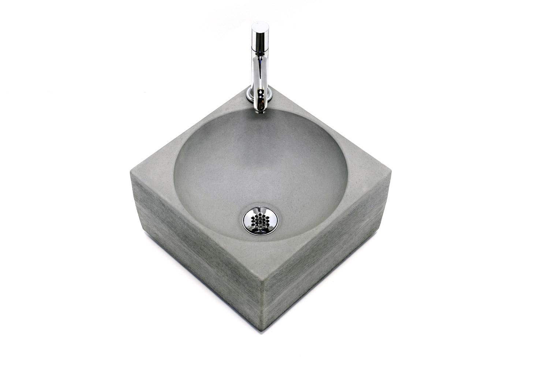 Holzgemasertes Handwaschbecken